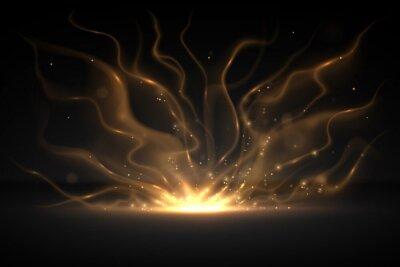 Fototapeta Abstract gold light effect background