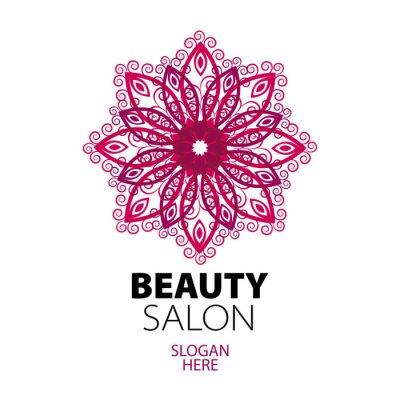 Fototapeta abstract lace logo dla salonu kosmetycznego
