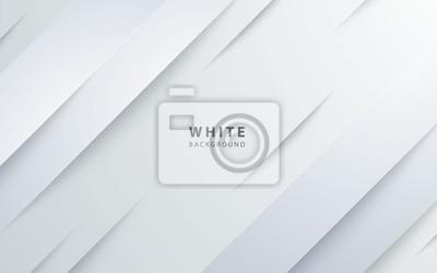 Fototapeta Abstract light silver background vector. Modern diagonal white background.