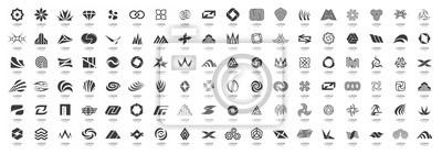 Fototapeta Abstract logos mega collection. Isolated on White background
