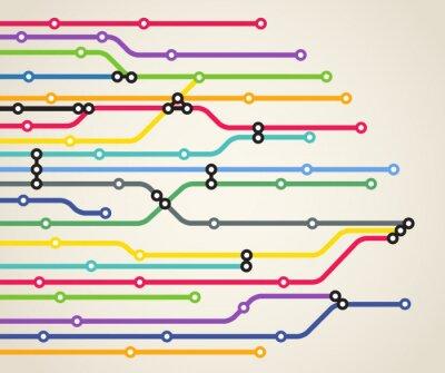 Fototapeta Abstract metro kolor tła programu