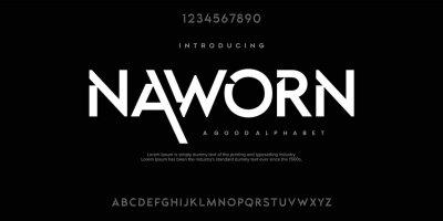 Fototapeta Abstract minimal modern alphabet fonts. Typography technology vector illustration