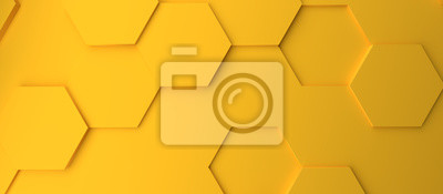 Fototapeta Abstract modern yellow honeycomb background