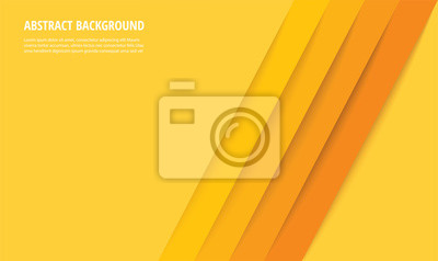 Fototapeta abstract modern yellow lines background vector illustration EPS10