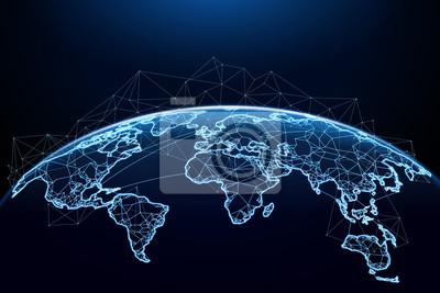 Fototapeta Abstract of world network