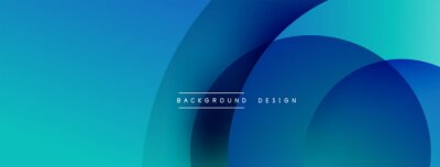 Fototapeta Abstract overlapping lines and circles geometric background with gradient colors