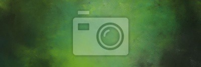 Fototapeta abstract painting background texture with dark olive green, moderate green and very dark green colors and space for text or image. can be used as header or banner