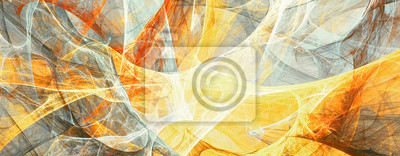 Abstract painting grey and yellow color texture. Bright artistic background. Fine pattern. Fractal artwork for creative graphic design
