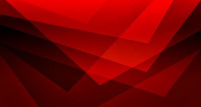 Fototapeta Abstract red background, black triangles in creative geometric art pattern, modern art business background, transparent red and black paper