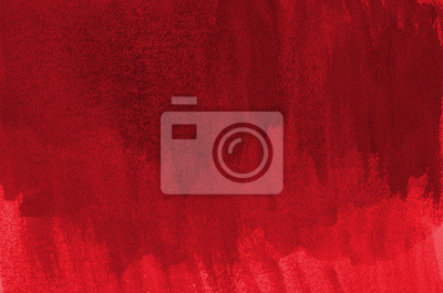 Fototapeta Abstract red background in watercolor style