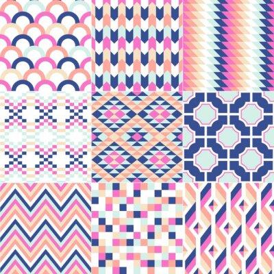 Fototapeta abstract retro geometric seamless pattern
