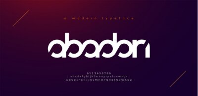 Fototapeta Abstract sport modern alphabet fonts. Typography technology electronic sport digital game music future creative font. vector illustration