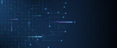 Fototapeta Abstract tech background. Futuristic technology interface
