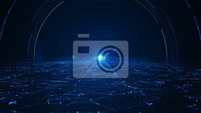 Fototapeta  Abstract technology  big data background concept.