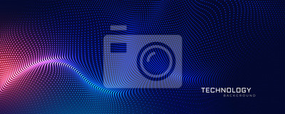 Fototapeta abstract technology particles mesh background