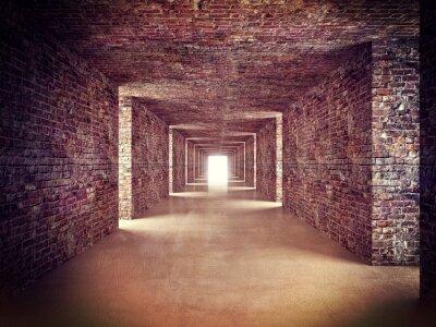Fototapeta abstract tunnel