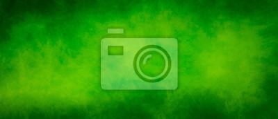Fototapeta Abstract vintage green splash design background with dark borders