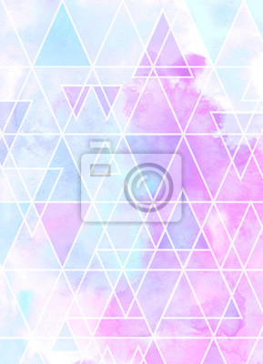 Abstract watercolor triangular background