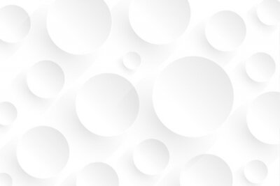 Fototapeta Abstract white background with 3D circles pattern, interesting white grey vector  background illustration.