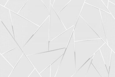 Fototapeta Abstract white chrome lines background