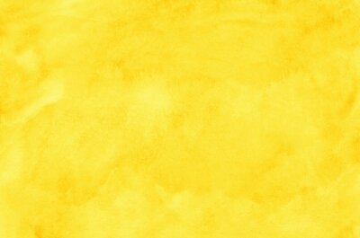 Fototapeta Abstract yellow watercolor background texture