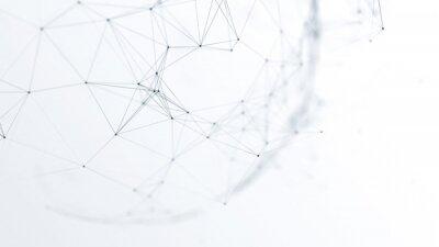 Fototapeta abstrakcjonistyczna futurystyczna sieć na tło ilustraci