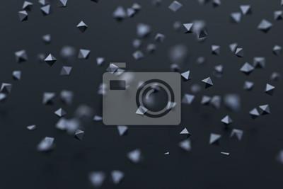 Fototapeta Abstrakcjonistyczny 3d rendering latający rhombus.