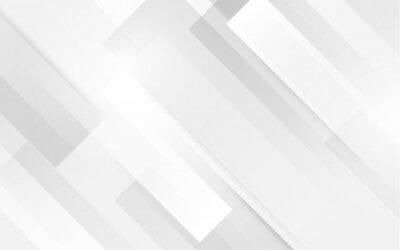 Fototapeta Abstrakcjonistyczny biały kwadratowy kształt z futurystycznym pojęcia tłem