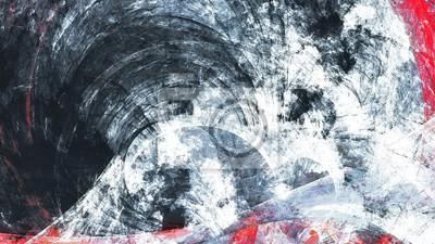 Abstrakcjonistyczny czarny i biały grunge ruchu skład. Nowoczesne jasne futurystyczne dynamiczne tło. Sztuka fraktalna do kreatywnego projektowania graficznego