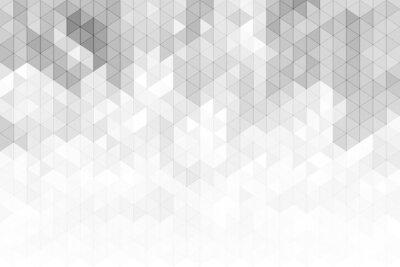 Fototapeta Abstrakcjonistyczny geometryczny tło z szarymi i białymi koloru brzmienia trójbokiem kształtuje.