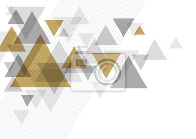 Fototapeta Abstrakcjonistyczny luksusowy tło projekt trójboka wektoru ilustracja