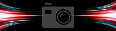 Fototapeta Abstrakcjonistyczny tło długi explosure opowieści światło na czerni, technologii backgroud