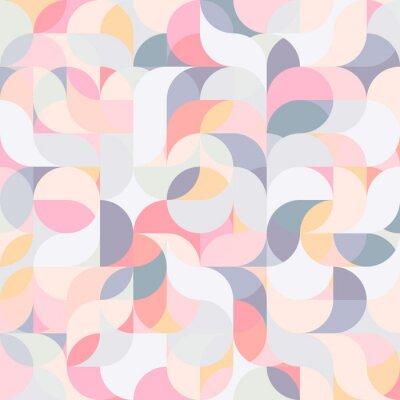 Fototapeta Abstrakcjonistyczny wektorowy kolorowy geometryczny harmoniczny falowy tło