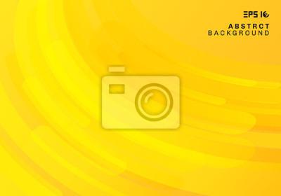 Fototapeta Abstrakcjonistyczny żółty geometryczny tło i dynamiczny koszowy płynny ruch kształtuje skład.