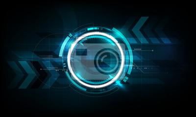 Fototapeta Abstrakcyjna futurystyczne tła technologii elektronicznej tłem, ilustracji wektorowych