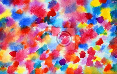 Abstrakcyjna kolorowe akwarela