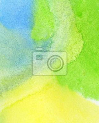 Abstrakcyjna kolorowe tło Akwarele ręcznie malowane