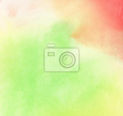 Fototapeta Abstrakcyjna kolorowe tło malowane akwarela