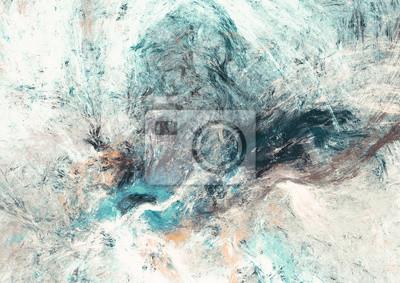 Abstrakcyjna piękne miękkie tła koloru. Dynamiczne malowanie tekstury. Nowoczesny futurystyczny wzór. Fraktalna grafika do kreatywnego projektowania graficznego
