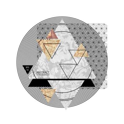 Fototapeta Abstrakcyjna składu z teksturowanej kształtów geometrycznych. Marmurowa kompozycja. Ilustracja wektora EPS10.