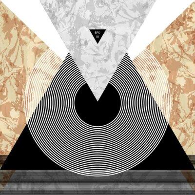 Fototapeta Abstrakcyjna składu z teksturowanej kształtów geometrycznych. Marmurowa kompozycja. Plakat projektu prezentacji. Ilustracja wektora EPS10