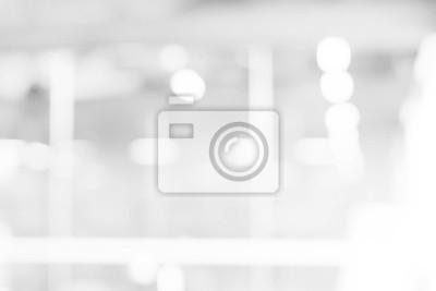 Fototapeta abstrakcyjne białe i szare tło z bokeh światła motion blur