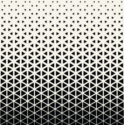 Fototapeta Abstrakcyjne geometryczne czarno-biały wzór graficzny druku półtonów wzór trójkąta