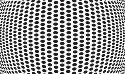 Fototapeta abstrakcyjne kropki optyczne sztuki op-art w tle
