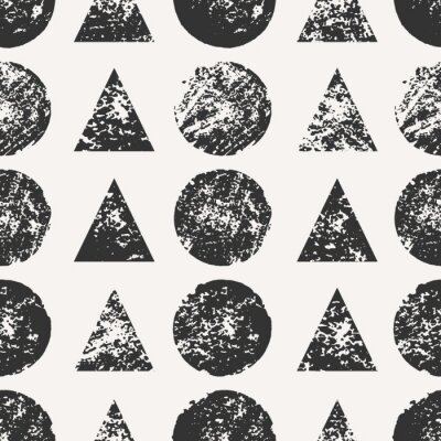 Fototapeta Abstrakcyjne kształty okrągłe i trójkątne Seamless Pattern