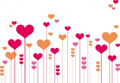 Fototapeta abstrakcyjne kwiaty serca