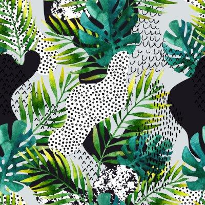 Fototapeta Abstrakcyjne latem tropikalnych liści tła.