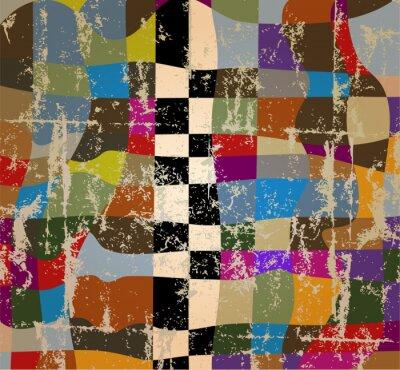 Fototapeta abstrakcyjne tło, kolory jesieni, grungy, Ilustracja