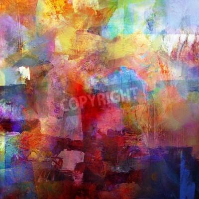 Fototapeta abstrakcyjne tło malowane - utworzone przez połączenie różnych warstw farby