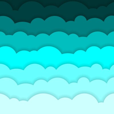 Abstrakcyjne tło składa się z niebieskim papierze chmury. Ilustracji wektorowych.